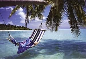 Maldives Tropical - Tropical Beach - Poster (36x24)