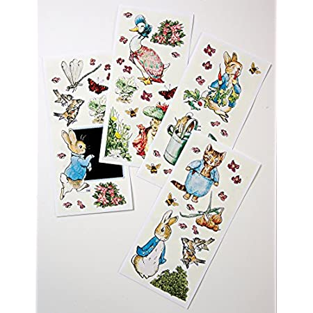A set of fabulous party decoration wall stickers featuring Peter Rabbit and friends. Use Beatrix Potter's fabulous illustrations to enhance your Peter Rabbit party.