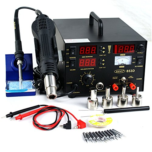 Zeny-3-in-1-Soldering-Iron-Rework-Station-Hot-Air-Gun-853D-DC-10-Tips-welder