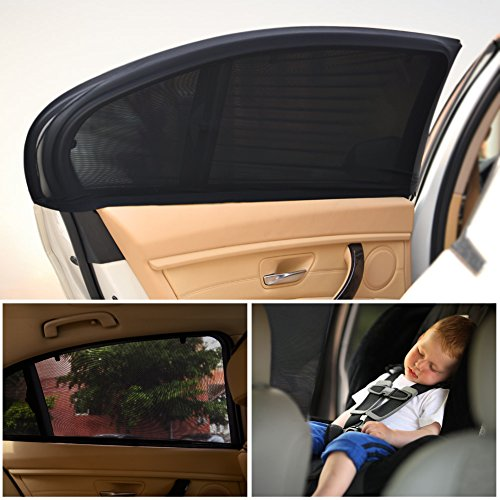 Car Window Shade for Baby Car Sun Shade Breathable Mesh 2 Pcs (Car Window Retractable Shade compare prices)