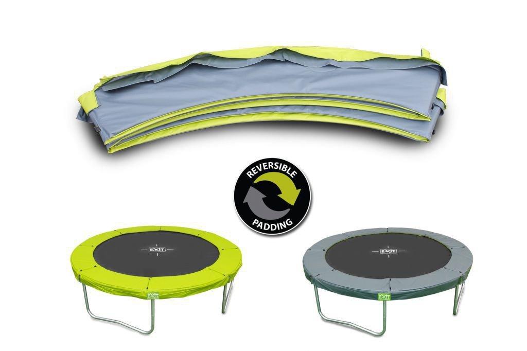 EXIT Twist Schutzrand 14ft / passender Abdeckrand – Zubehör für EXIT Twist Trampolin Ø 427 cm / Farbe: grün/grau / Lieferung OHNE Trampoli bestellen