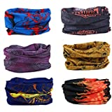 10pc Tube Headband Set Biker Motorcycle Face Shield Guards