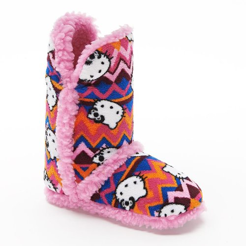 Hello-Kitty-Zigzag-Bootie-Slippers-Girls-Size-1112