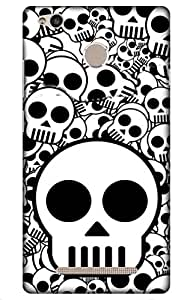 iessential skull Designer Printed Back Case Cover for Redmi 3S