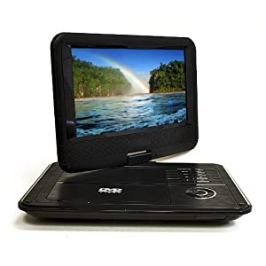 Orei DVD-P901 9-Inch Swivel Screen Multi Region Free Portable DVD Player - 4.5 Hour Long Battery Life - USB/SD Card Input