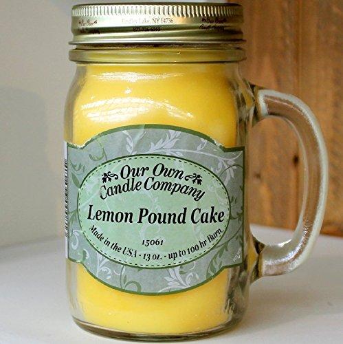 OloreHome Bougie parfumée en pot senteur cake au citron durée de combustion environ 100h