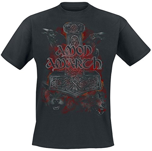 Amon Amarth Crows And Wolves T-Shirt nero M