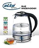 elta Glas Design Wasserkocher 1,8L 2200 Watt mit LED Beleuchtung