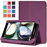 MoKo Slim Folding Cover Case for Lenovo IdeaTab A3000 7-inch Android Tablet, PURPLE