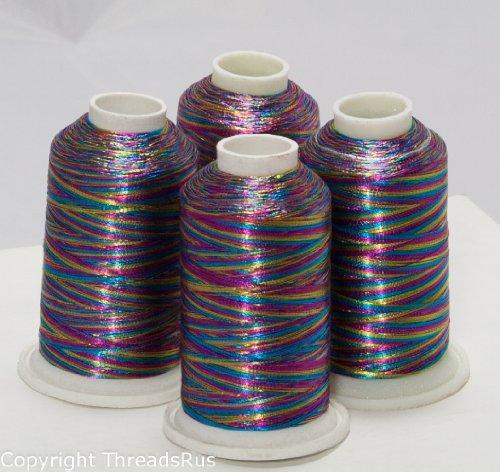 New threadnanny multi color metallic machine embroidery