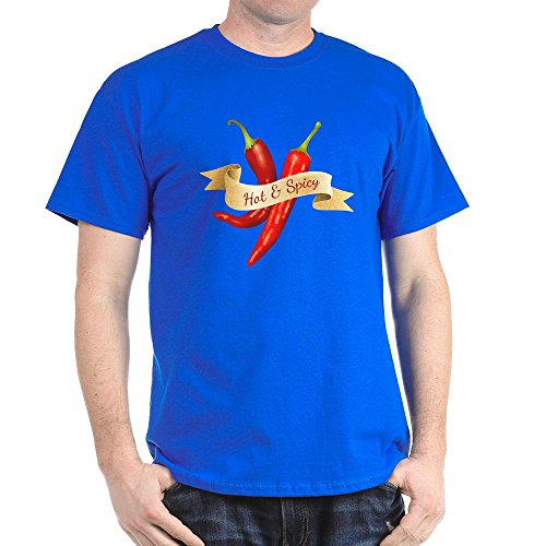 Truly Teague Dark T-Shirt Hot & Spicy Chili Peppers - Royal Blue, 3X (Royal Cook Tortilla compare prices)