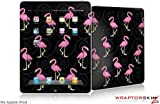 iPad Skin - Flamingos on Black - fits Apple iPad by WraptorSkinz