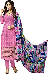Zohra Vol 2 Women's Georgette Unstitched Dress Material(54012, Light Pink)