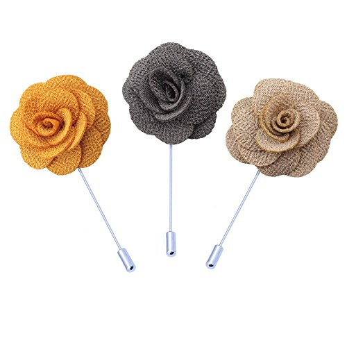 savori-3-pack-handmade-satin-flower-lapel-pin-boutonniere-gifts-for-suit-yellow-gray-beige
