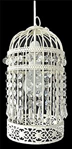 Lantern Birdcage Light Fitting Cream Ivory Easy Fit Ceiling Light Shade Pendant Decration Chandelier Ornate Moroccan Hallways ® by Sold By Halllways