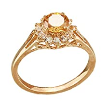 buy Fm42 Sparkling Round Cut Champagne Crystal Cluster Ring R125 Size 8