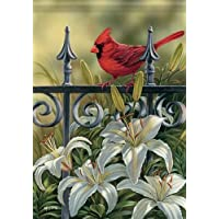 Floral Gate Cardinals Two-Sided Flag 28