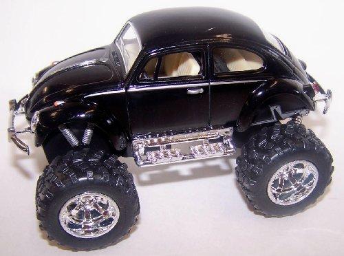 Kinsmart 1/32 Scale Diecast 1967 Volkswagen Classical Beetle Off Road Wheels in Color Black