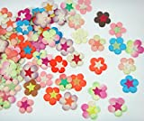 Card making mulberry Paper flowers for Scrapbooking wedding multi color 50 pcs No Mul 006