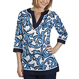 Product Image Merona® Collection Women's Tegan Tunic Top - Blue Print