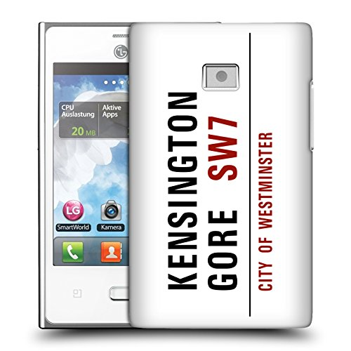 Ufficiale London Kensington Gore Segnali Stradali 2 Cover Retro Rigida per LG Optimus L3 E400
