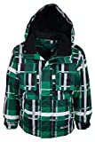 Mountain Warehouse Neptune Kids Snowproof Mountain Adjustable Hooded Ski Jacket Green 11 12 years