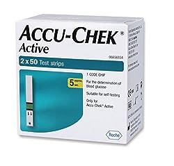 Accu Chek Active Strips, 100 (50x2) (Multicolor)