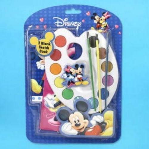 Disney Minnie and Mickey Mouse 6 Piece Painting Set