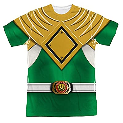 Power Rangers Green Ranger Uniform All Over Print Front T-Shirt