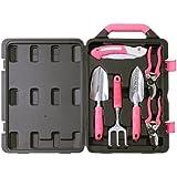 Apollo Precision Tools DT3706P 6-Piece Garden Tool Kit, Pink