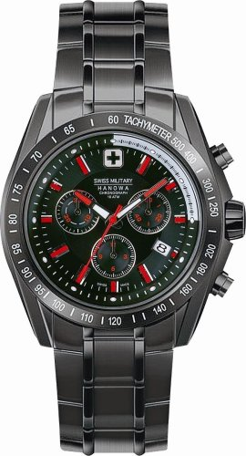 SWISS MILITARY (スイスミリタリー) 腕時計 ML/234 ソニッククロノ PVD ブラック文字盤 メタルブレスレット メンズ