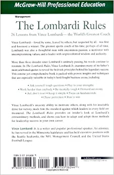 the lombardi rules Hornung's coach, vince lombardi, was devastated  it was a betrayal of their  friendship, the rules of the sport, and the trust of a team.