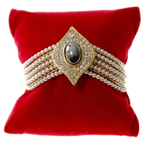 Présentoirs pour Bijoux Schmuckkissen für Armbänder, rot, (L) 8 x (P) 8