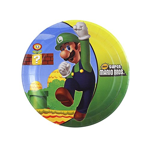 Super Mario Bros. Dessert Plates (8 per package) - 1