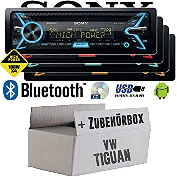 VW Tiguan - Sony MEX-XB100BT - Bluetooth | CD | MP3 | USB | 4x100 Watt Autoradio - Einbauset