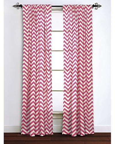 Rizzy Home Pink Chevron Window Panel