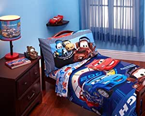disney cars max rev 4 piece toddler bed bedding set
