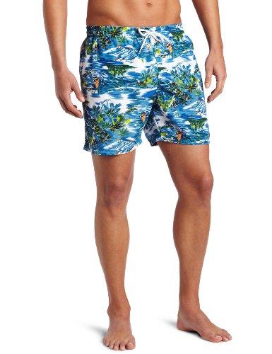 Bottoms Out Men's Ocean Print Swim Short