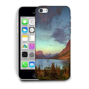 Snoogg Red Mountains Printed Protective Phone Back Case Cover For Apple Iphone 6 / 6S