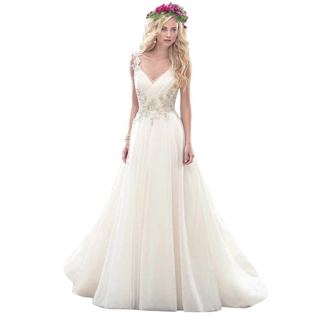 Cheap 2016 Sexy Vintage Appliqued Wedding Dresses Bridal Party Gowns 0