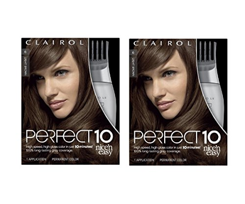 Clairol Perfect 10 By Nice 'N Easy Hair Color 006 Light Brown Chocolate Shake 1 Kit (Pack of 2) (Chocolate Color Hair Dye compare prices)
