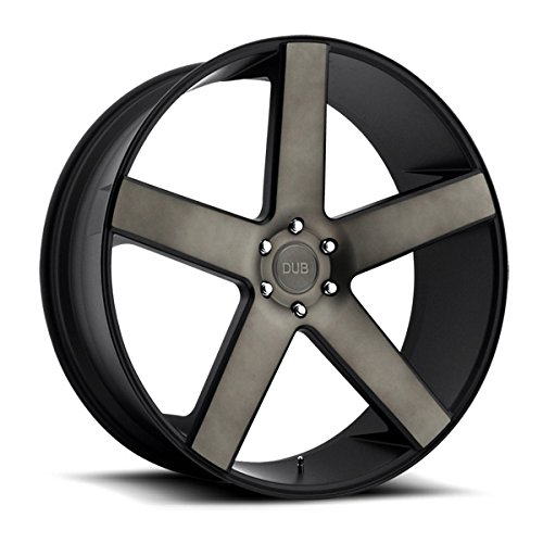DUB Baller 22 Black Flake Wheel / Rim 6x5.5 with a 31mm Offset and a 78.1 Hub Bore. Partnumber S116229577+31 (22 Inch Rims 6 Lug compare prices)