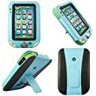 Evecase Kid-Friendly Leather Case Cover with Built-in Stand for LeapFrog LeapPad Ultra Learning Tablet - Blue / Black