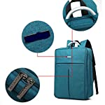 Bronze Times (TM) Unisex 15.6 inch T-shape Top Canvas Busniess Travel Computer Backpack (B-Grey) - luggage