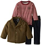 Calvin Klein Baby-Boys Infant Jacket With Stripes Tee And Jeans