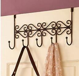 Over the Door Hanging Purse/closet Rack 5 Hook