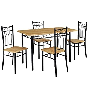 Lexmod nook table and four chair dining set for Four chair dining table set