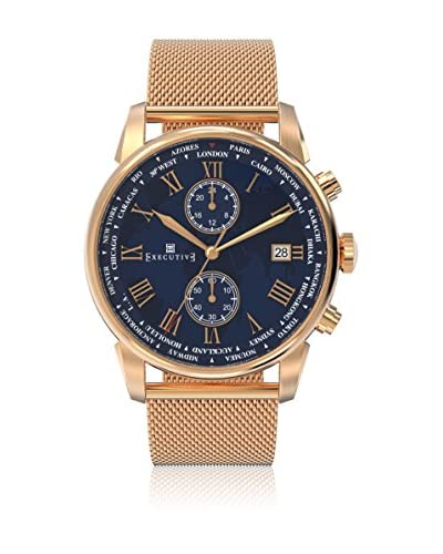 Executive Quarzuhr Man Double Breasted rosé 42 mm