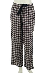 Nautica Sleepwear Flannel Plaid Pants - Womens
