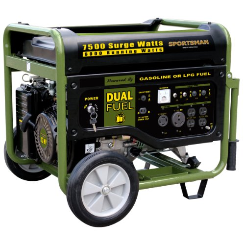 51 1ZJQ jYL. SL500  Sportsman GEN7500DF 7,500 Watt 13 HP 389cc OVH 4 Stroke Gas/Propane Powered Portable Generator With Electric Start